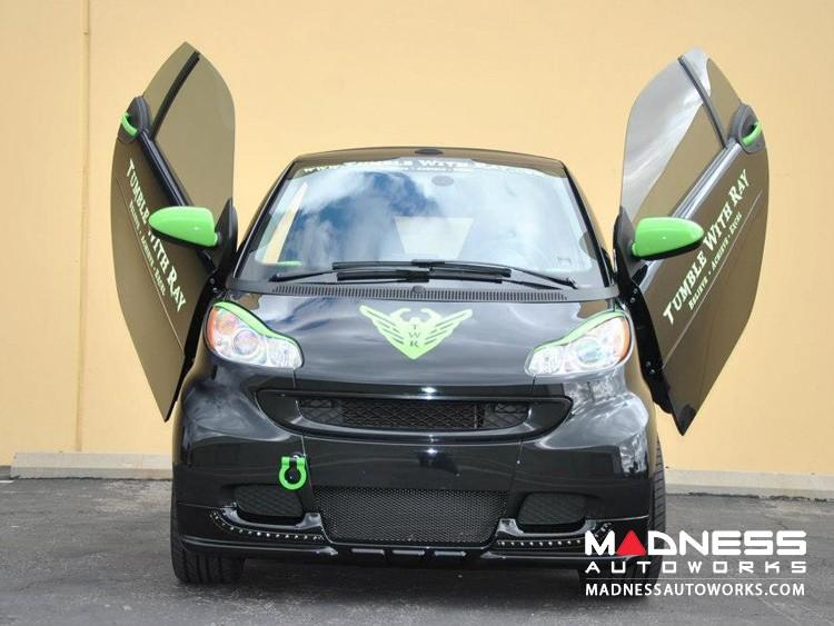 smart fortwo Front Spoiler - 451 model - Panimex - Gloss Black